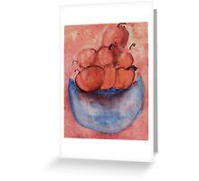 Bowl of Fruit 2, Watercolor Greeting Card