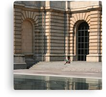 Lille, France - Reflective Lunch Canvas Print