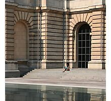 Lille, France - Reflective Lunch Photographic Print