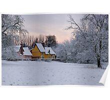~ Pre-dawn light over Church Meadow Poster