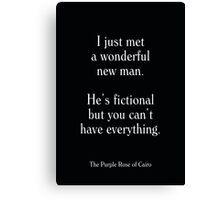 The Purple Rose of Cairo - Woody Allen's Greatest Lines Canvas Print