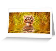 Tiger Upon Reflection Greeting Card