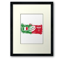 Italia Rugby World Cup Framed Print