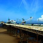Blackpool North Pier At Low Tide by John Hare