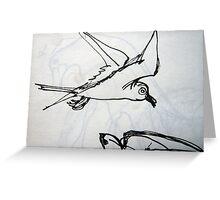 Sketch Book - Birds Greeting Card