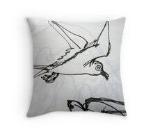 Sketch Book - Birds Throw Pillow