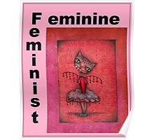 feminist cat art by Anglieclementine Poster