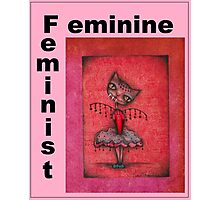 feminist cat art by Anglieclementine Photographic Print