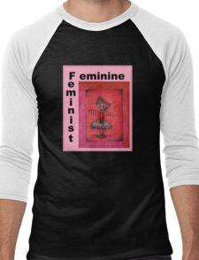feminist cat art by Anglieclementine Men's Baseball ¾ T-Shirt