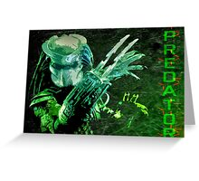 Predator Movie Poster Greeting Card