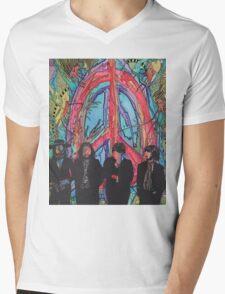Peace, Love & The Beatles Mens V-Neck T-Shirt