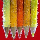 orange bubbles.. by Michelle McMahon