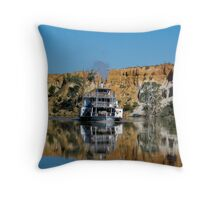 rounding the bend - p.s. ruby Throw Pillow