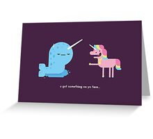 Norwall and the Jackass Unicorn Greeting Card