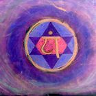 """Heart Chakra Revisited"" Oil pastel on paper, 30"" x 20"" by Andre Giroux"