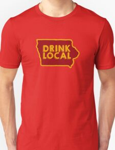 Iowa Drink Local Beer Cyclone Colors Unisex T-Shirt