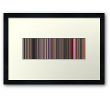 Moviebarcode: Singin' in the Rain (1952) [Simplified Colors] Framed Print
