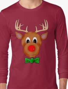 Funny Reindeer with Red Nose and Antlers T-Shirt