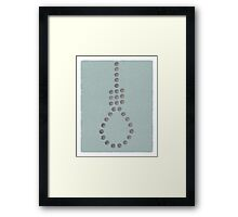 Word: Crucifixion (The Cost of Christ) Framed Print