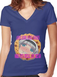Annes Home Made Cookies Women's Fitted V-Neck T-Shirt