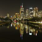 Melbourne and the Yarra River by Paul Campbell  Photography