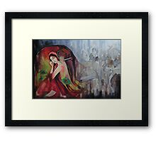 Twilight Drizzles  Framed Print