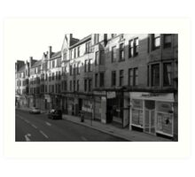Glasgow streetscape 1 Art Print
