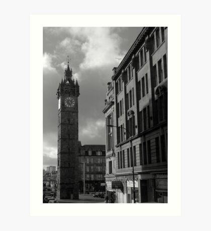 Glasgow streetscape 2 Art Print