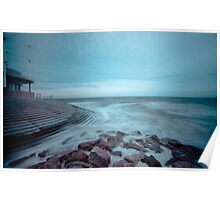 Cleveleys Sea Defences Poster