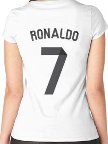 Ronaldo 2014/2015 Women's Fitted Scoop T-Shirt