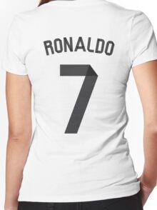 Ronaldo 2014/2015 Women's Fitted V-Neck T-Shirt