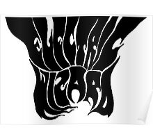 Electric Wizard Black and White Logo Poster