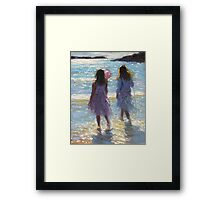 In the sea with nets Framed Print