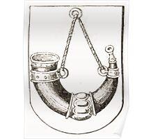 Anders Thiset Hearldry Horns Herred på Sjællands våben 1584 Poster