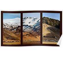 Icelandic Villages Triptych - Southern, Iceland Poster