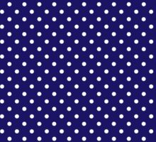 Polkadots Blue and White Sticker
