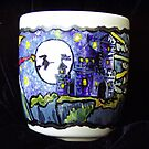 Witch over the Moon mug by Wendy Crouch