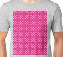 Polkadots Pink and White Unisex T-Shirt