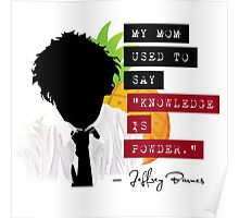"Jeffrey Barnes—""Knowledge is Powder"" (Chuck TV Show) Poster"