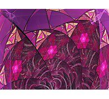 Raspberry Swirling Escher  Photographic Print