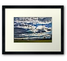 Lake Crabtree Big Sky Framed Print