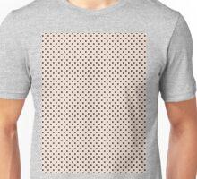 Polkadots Beige and Black Unisex T-Shirt