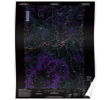 USGS Topo Map Oregon Monument 280784 1995 24000 Inverted Poster