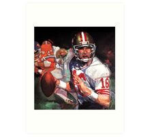 JOE MONTANA SAN FRANCISCO #16 Art Print