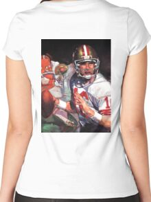 JOE MONTANA SAN FRANCISCO #16 Women's Fitted Scoop T-Shirt