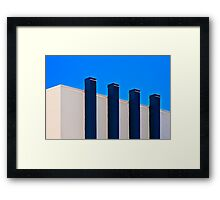 Blue Poles:  A Literal Interpretation Framed Print