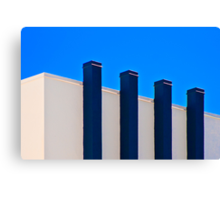 Blue Poles:  A Literal Interpretation Canvas Print