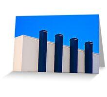 Blue Poles:  A Literal Interpretation Greeting Card