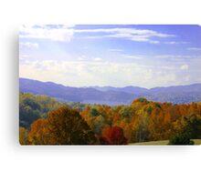 Watauga Lake Autumn Canvas Print