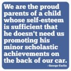 Proud Parent Of A Child With Self Esteem Sticker - Male by houseAU
